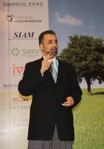 Mr Al-Hallaj at the China EV Li-ion Forum