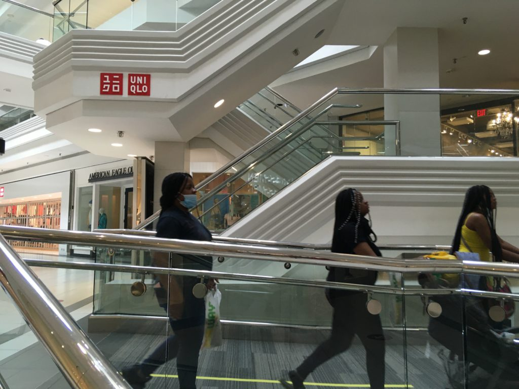 Shoppers strolled Woodfield Mall on Friday, May 29, as stores began re-opening after over two months' of closure due to COVID-19.